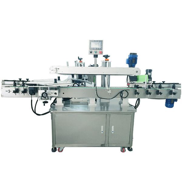 Máquina de etiquetaxe automática de aceiro inoxidable para etiquetaxe a dúas caras