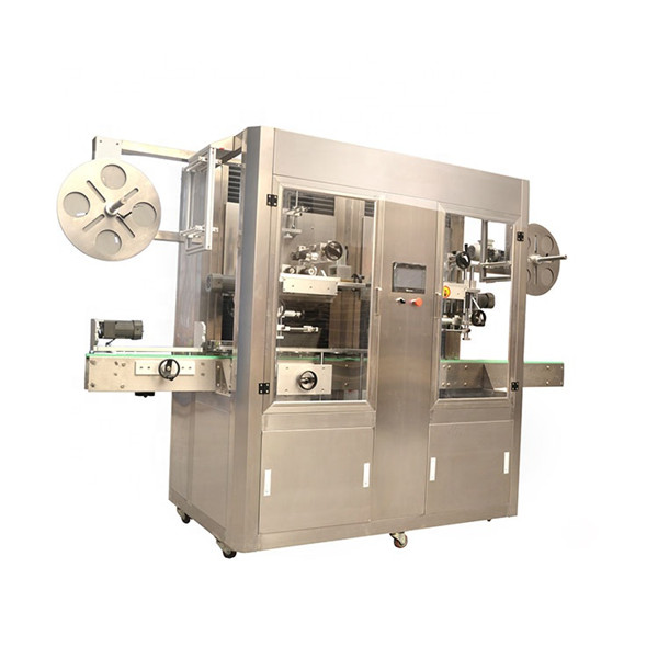 Máquina de etiqueta de manga retráctil de aceiro inoxidable
