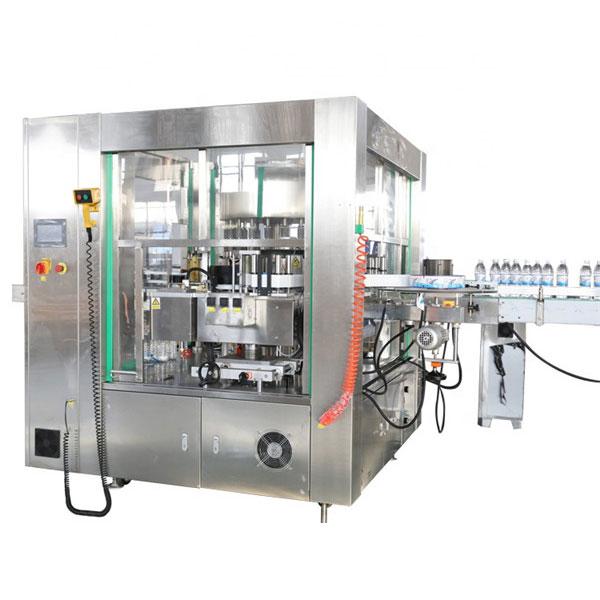 Localización de tres caras Máquina de etiquetaxe de etiquetas automática Máquina de sistema rotativo