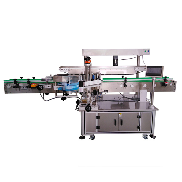 Máquina de etiquetaxe autoadhesiva de tres etiquetas