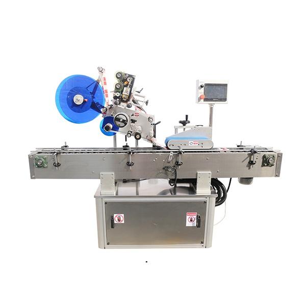 Máquina de etiquetaxe lateral superior e dobre