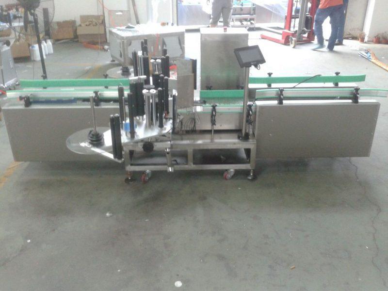Proveedor de máquinas de etiquetas automáticas con control PLC intelixente de Siemens con superficie de recollida