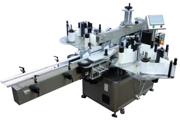 Proveedor de China SUS304 máquina de etiquetaxe de etiqueta adhesiva dobre de economía de aceiro inoxidable para etiquetaxe de botellas