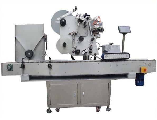 Máquina de etiquetaxe Round Opp con máquina de codificación