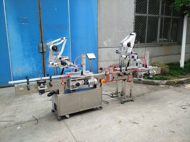 Aplicador de etiqueta de superficie plana de 20-200 mm de ancho con etiquetador lateral superior e traseiro