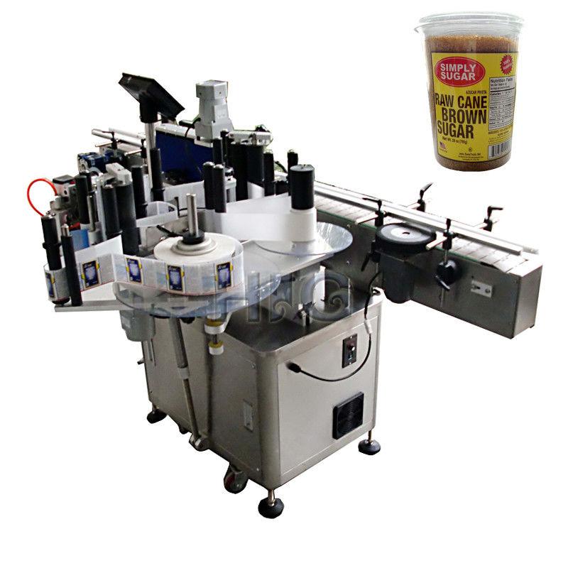 Máquina de etiquetaxe de botellas redondas de China, máquina de embotellado e etiquetaxe para o provedor de frasco suger