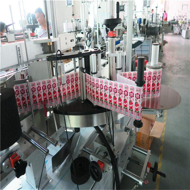 Aplicador de etiqueta adhesiva para a parte traseira dianteira e envolver a botella de etiqueta
