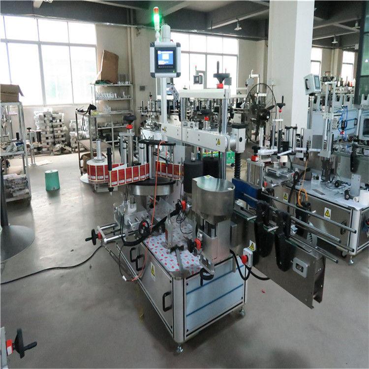 Proveedor de China Máquina de etiquetaxe de alta velocidade para botellas planas de dous lados para cosméticos / bebidas