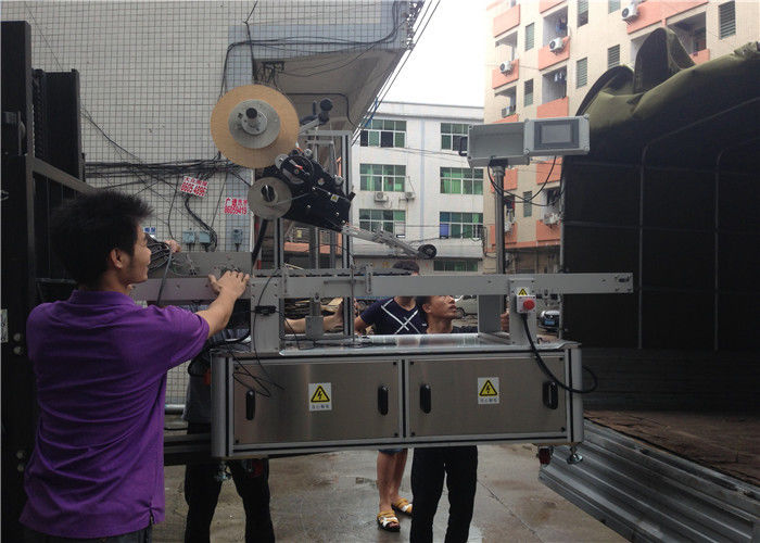 Proveedor de máquinas de etiquetaxe de etiquetas automáticas con pantalla táctil PLC de China