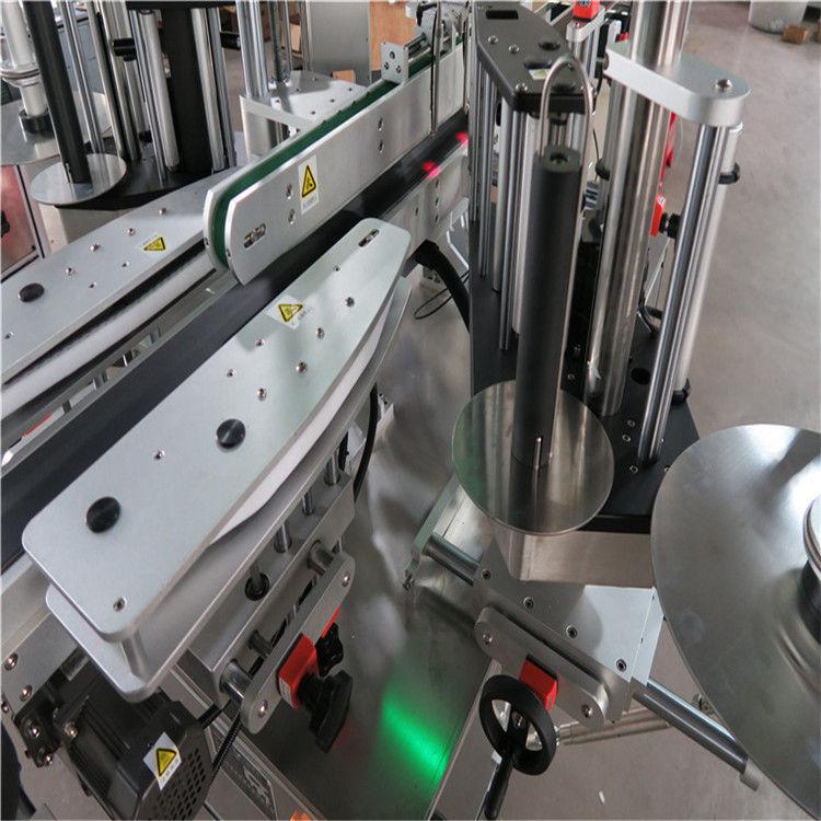 Máquina de etiquetaxe automática CE, máquina etiquetadora de botellas dianteira e traseira