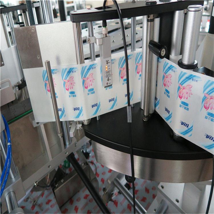 Máquina de etiquetaxe automática de botellas redondas hexagonais de lado simple / dobre