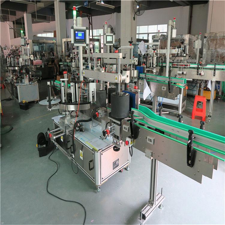 Máquina de etiquetaxe de botellas redondas, máquina aplicadora de etiquetas automática