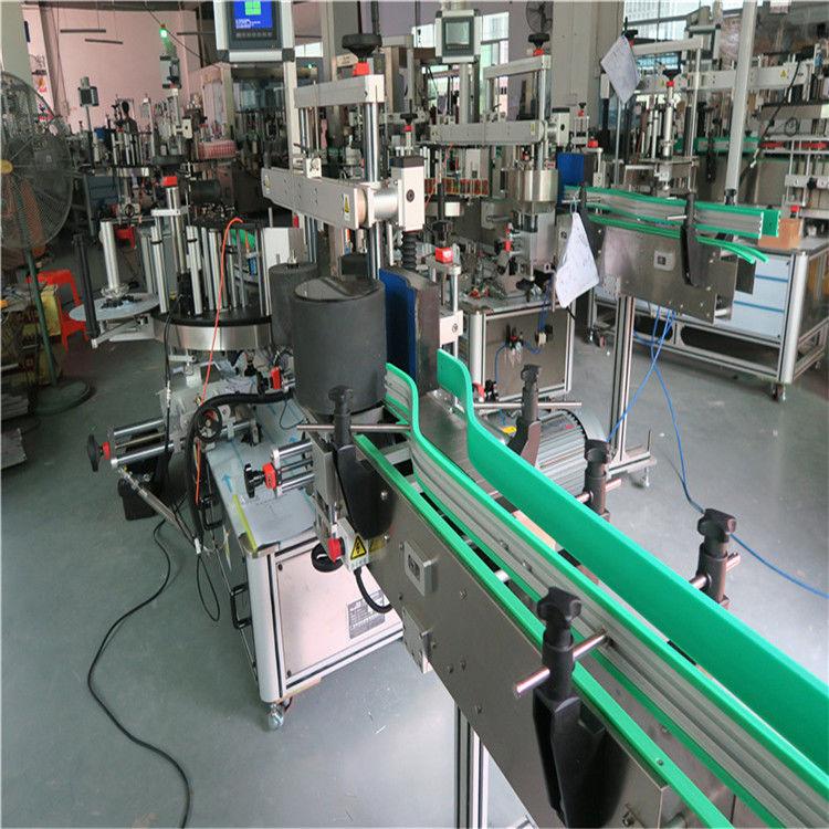 Etiquetadora de botellas con adhesivo autoadhesivo de dobre lado 190 mm Altura máx