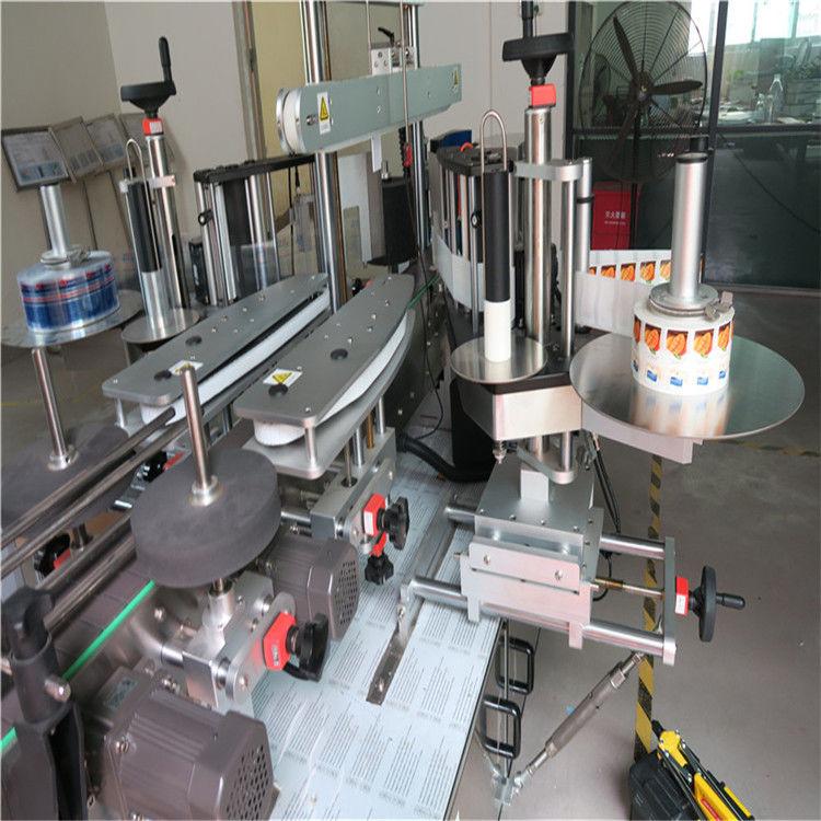 Máquina aplicadora de etiquetas de etiqueta adhesiva de botella redonda cara simple / dobre