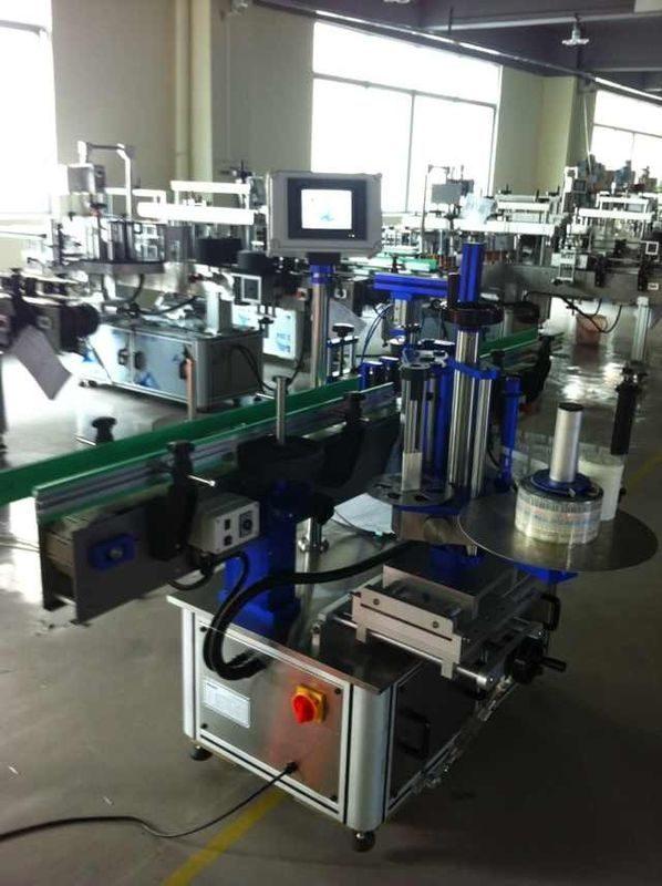 Aplicador de etiqueta de etiqueta adhesiva automático de China, máquina de etiquetaxe de botellas con certificado CE