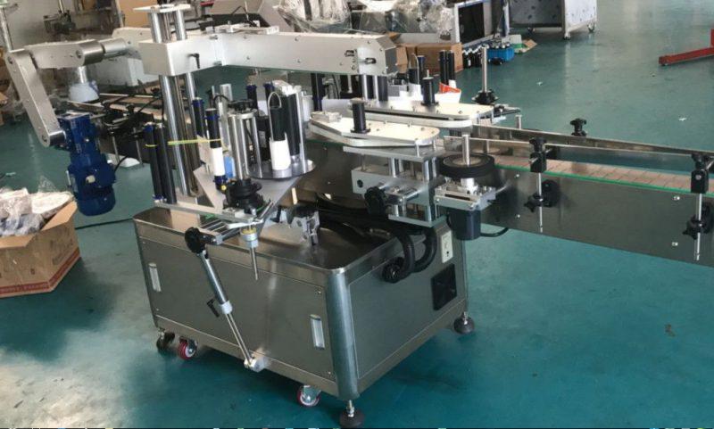 China Máquina de etiquetaxe de etiqueta dobre cara de alta velocidade para botella cadrada / redonda / plana