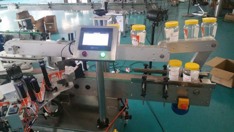 Proveedor de China etiquetaxe automática de dobre cara de botella redonda para botella de cervexa