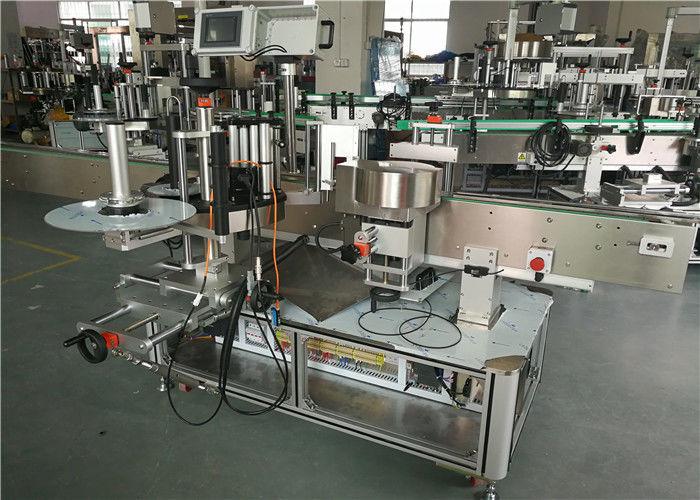 Proveedor de China WT-650GS máquina de etiquetaxe de dobre cara para botella oval de champú