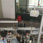 Etiquetadora de botellas de plástico para a industria cosmética