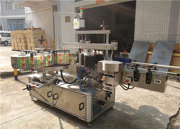 China Máquina de etiquetaxe de botellas planas 3048 mm x 1700 mm x 1600 mm Exterior do provedor de equipos