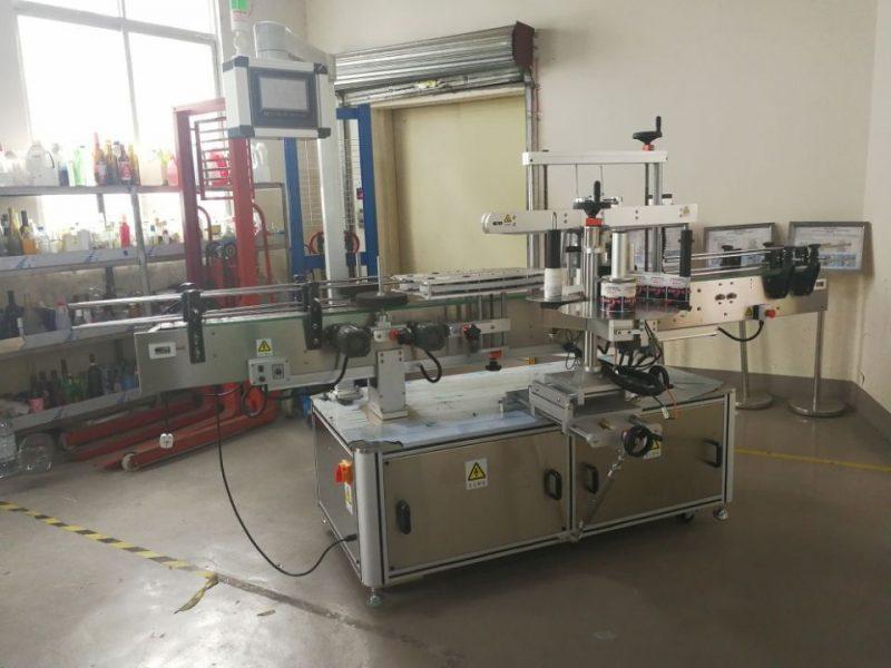 A máquina de etiquetaxe de botellas cadradas automáticas de China envólvese por 3000-5000B / H