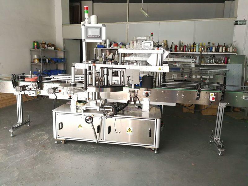Proveedor de China máquina de etiquetaxe de botellas redondas / aplicador de etiqueta de superficie plana automática