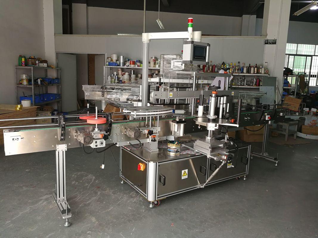 Etiquetadora de botellas planas multifunción de alta precisión accionada eléctricamente