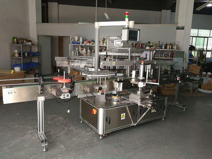 Máquina de etiquetaxe de botellas planas de xampú, máquina de etiquetaxe autoadhesiva dianteira e posterior