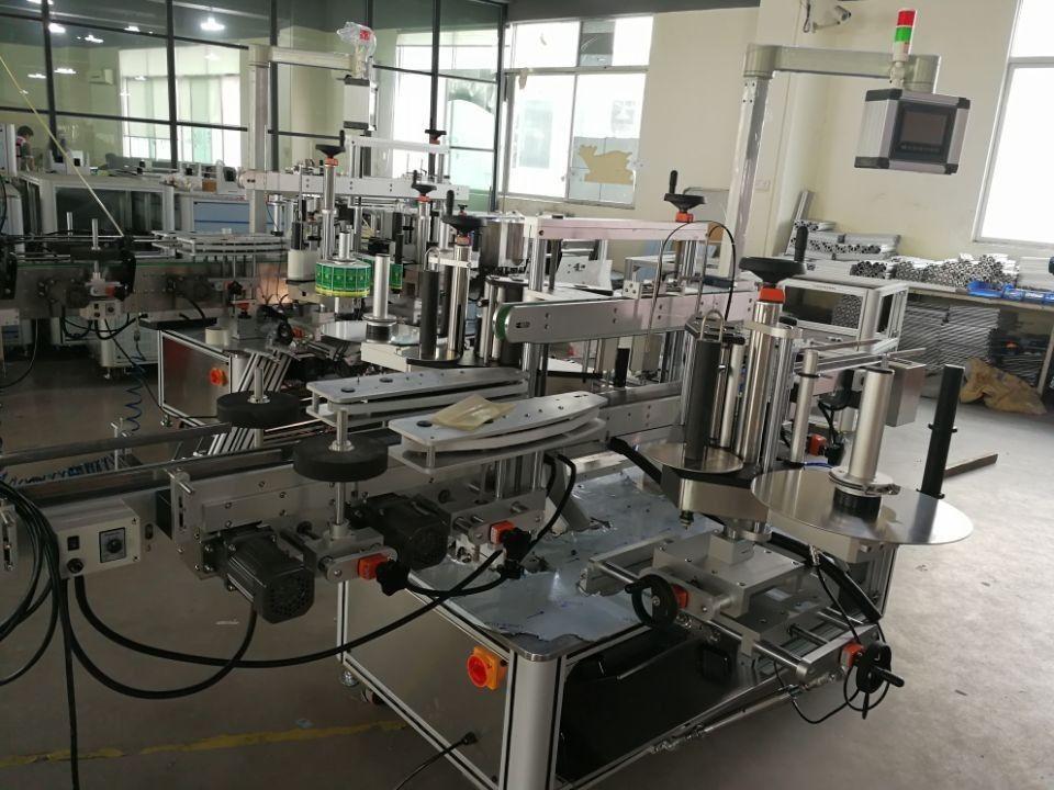 Sistema de etiquetaxe de selo dual de alta velocidade para caixas farmacéuticas