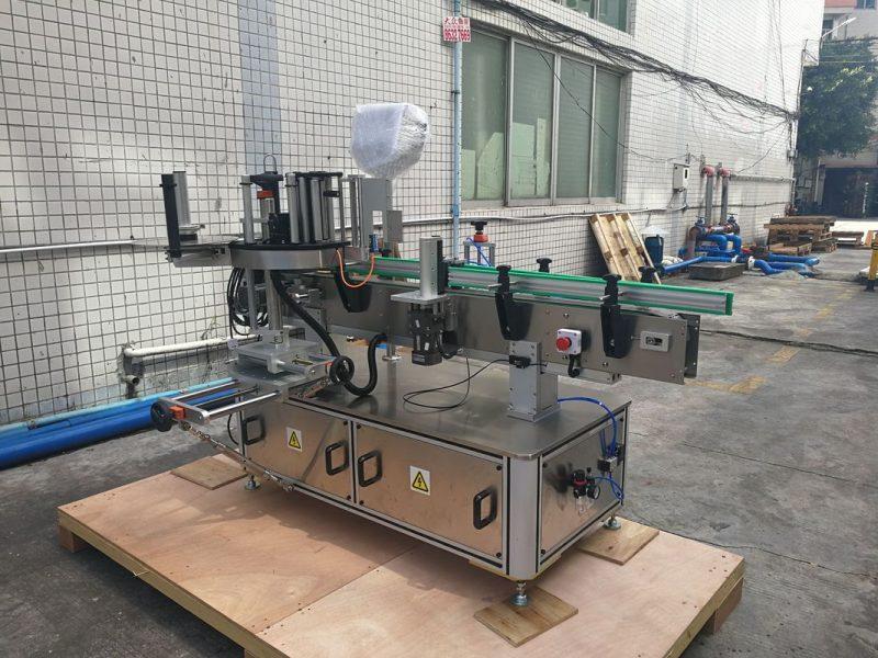 Proveedor de control de PLC da máquina de etiquetaxe de botellas redondas automáticas autoadhesivas de China