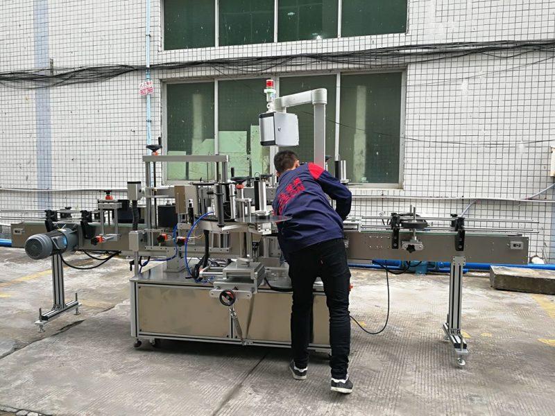 Proveedor de China máquina automática de etiquetaxe de botellas de auga para botellas de vidro / PET