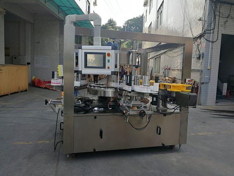 China Máquina rotuladora de etiquetas rotativas de alta velocidade con cinto Opcións de máquina de recheo