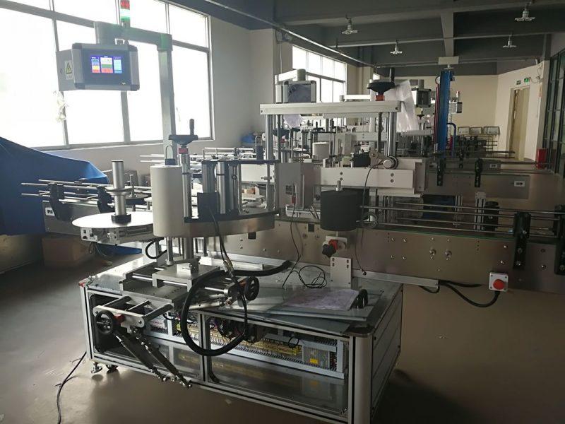 Proveedor de China máquina de etiquetaxe de botellas planas, aplicador automático de etiquetas PLC e pantalla táctil