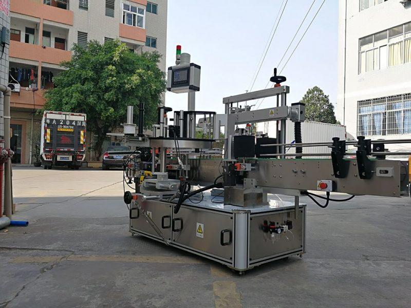 China Máquina automática de aplicación de etiquetas de botellas cadradas de tres caras de alta velocidade cunha única etiqueta provedor