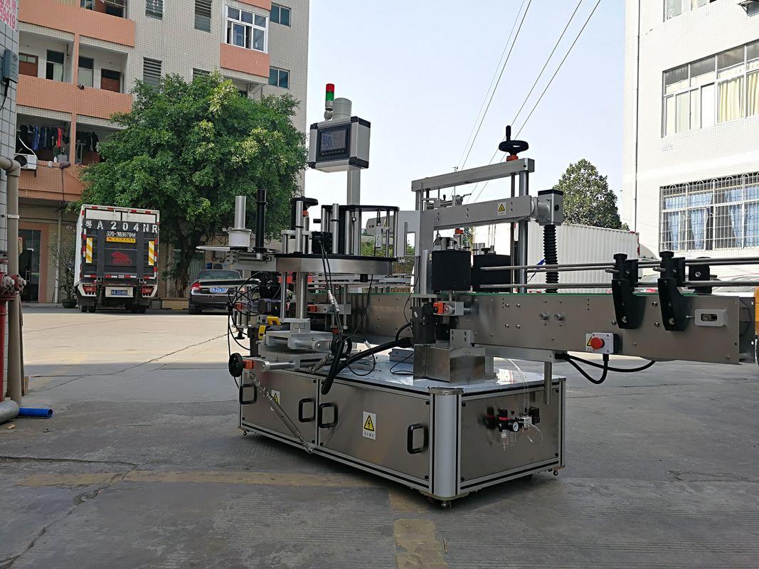 Máquina aplicadora automática de etiquetas de tres botellas cadradas de alta velocidade