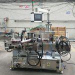 Máquina etiquetadora de botellas planas de dobre cara de alta precisión automática