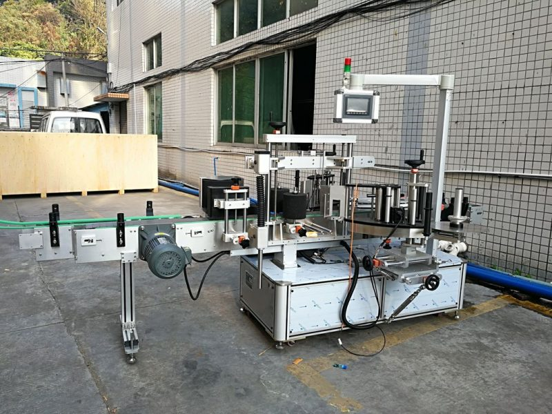 Máquina de etiquetas de etiquetas dianteiras e traseiras de China para provedor de botellas ovaladas e rectangulares