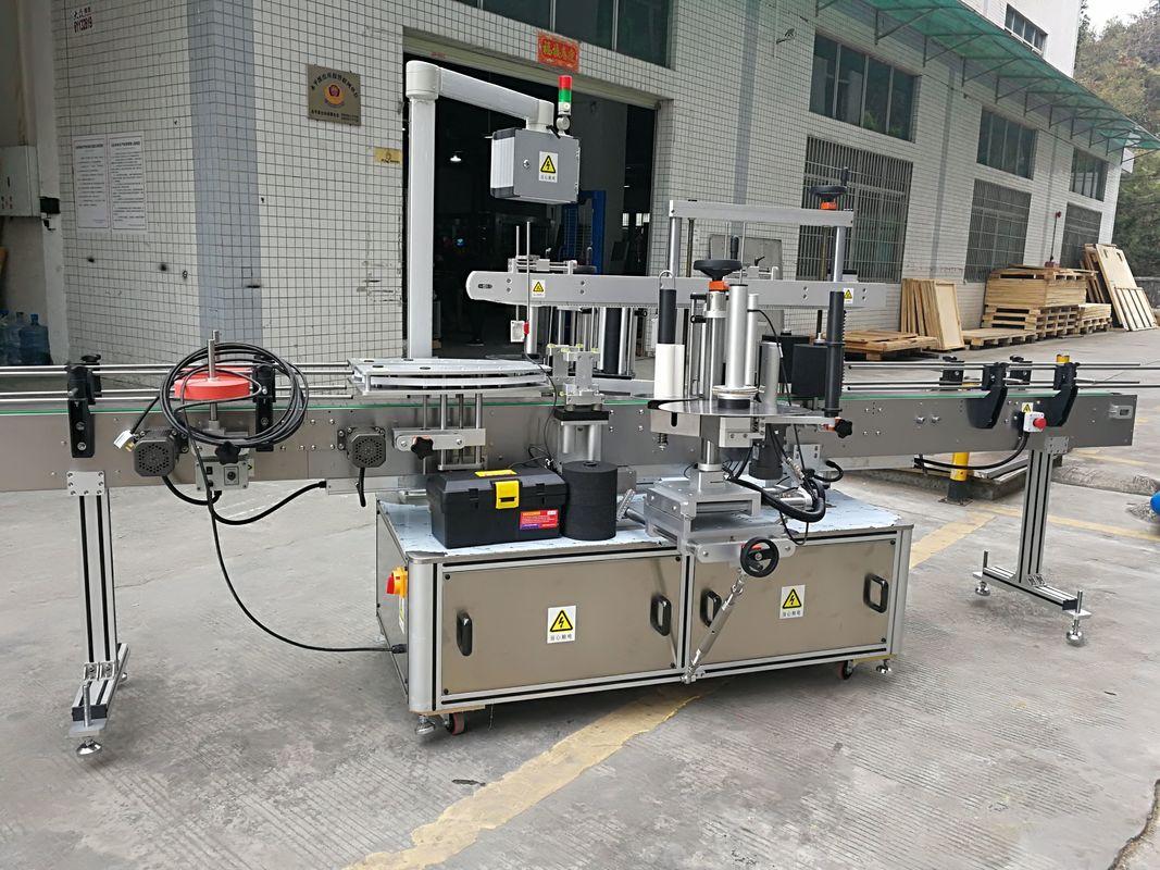 Máquina de etiquetaxe automática completa de etiquetas adhesivas de selado de cartón 220V 50HZ 1200W