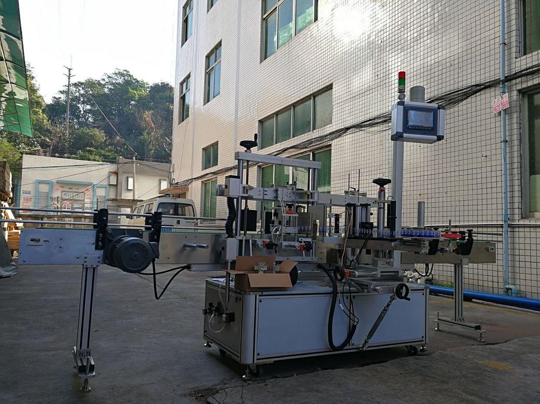 Máquina de etiquetaxe de botellas planas adhesivas dun lado de alta precisión